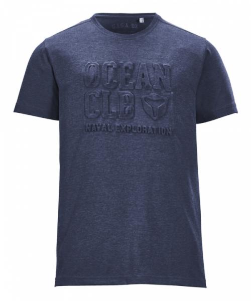 G.I.G.A. DX Herren Ederra Melange Casual T-Shirt 36885 denim