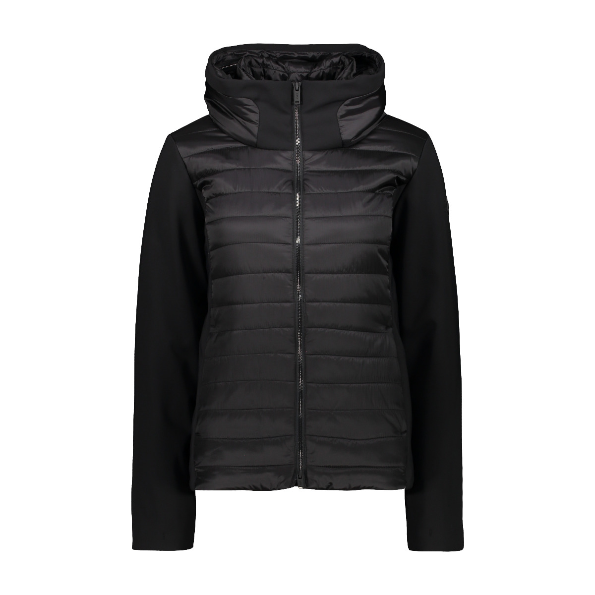 CMP Damen Hybrid Jacke Fix Hood 30K3796 schwarz