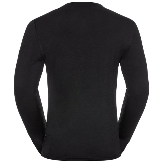 Odlo Herren NATURAL 100% MERINO WARM Funktionsunterwäsche Langarm-Shirt 110812 schwarz
