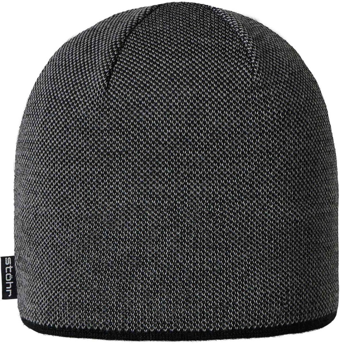 Stöhr Pius Mütze 21108 schwarz-grau