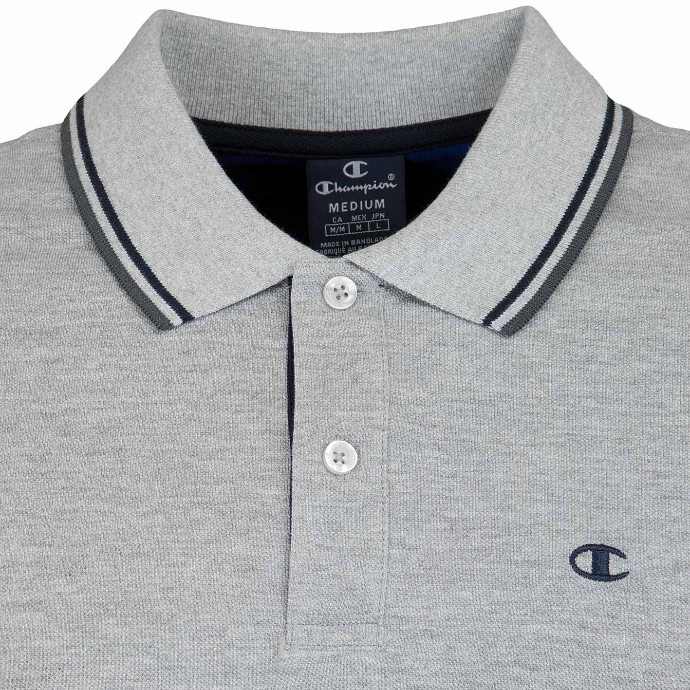 Champion Hr. Polo Shirt Auth 211847 grau