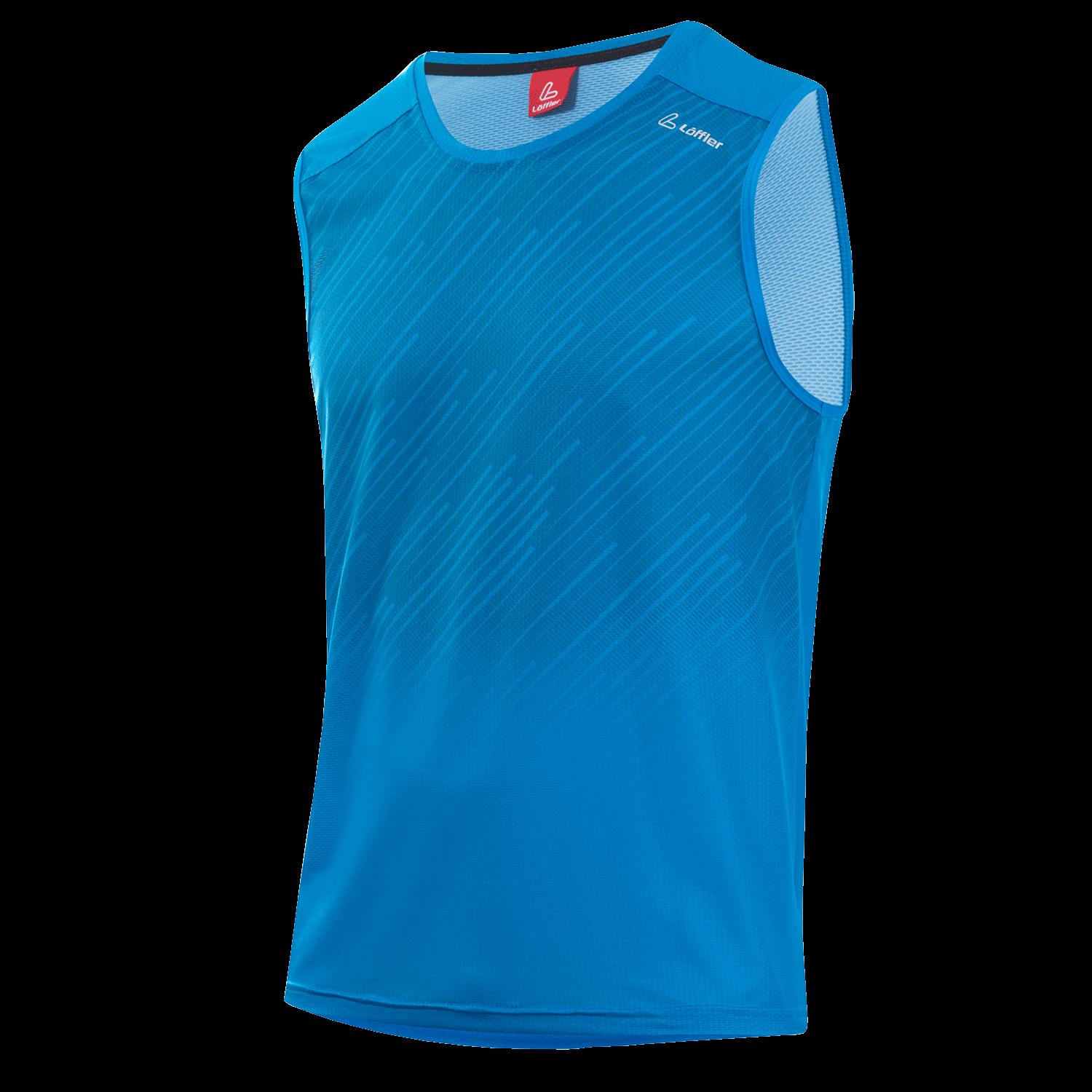 Löffler Herren Tank Top Shirt AERO 23605 brilliant blau