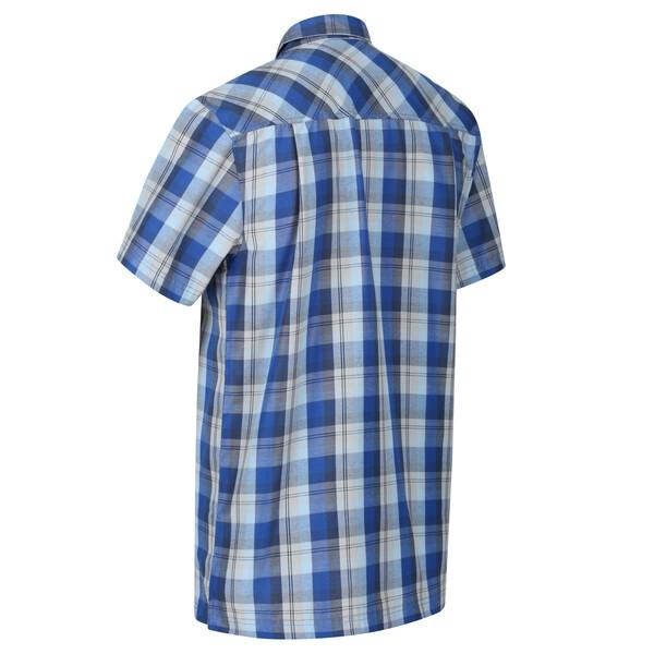 Regatta Herren Kalambo V Outdoor Kurzarmhemd RMS142 blau