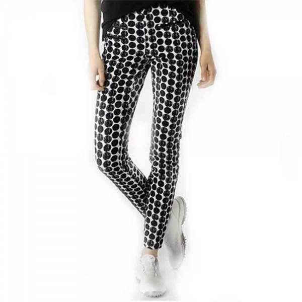 ALBERTO Golf Damen Golfhose Tina im Slim Fit 7359 schwarz weiß