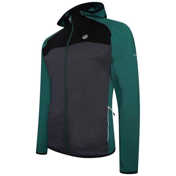 Dare 2b Herren Ratified II Hooded Core Stretch Midlayer Jacke DML427 green-black