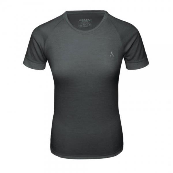 Schöffel Merino Sport Shirt Damen 1/2 Arm anthrazit
