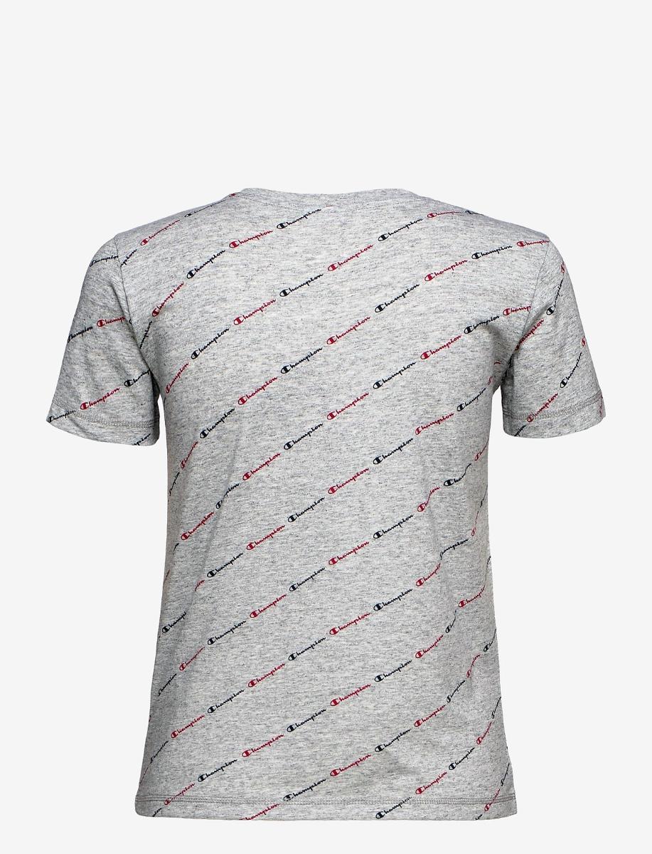 Champion Damen Crewneck T-Shirt Logoprint 113224 grau