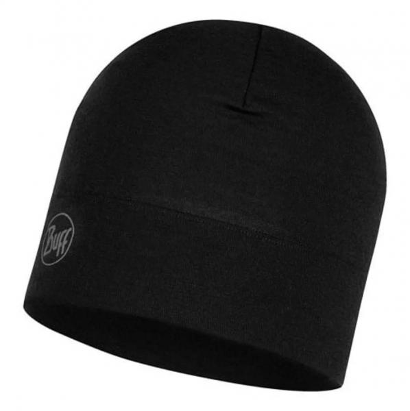 Buff Midweight Merino Wool Mütze 118006 solid black
