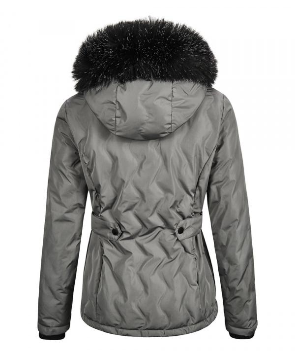 Killtec Damen Vogar Jacke in Daunenoptik mit abzippbarer Kapuze 35772 grau
