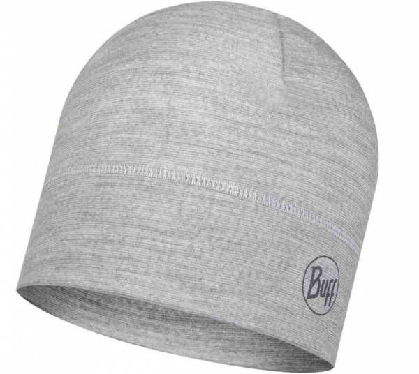 Buff® Lightweight Mütze Merino Wool 117997 grey