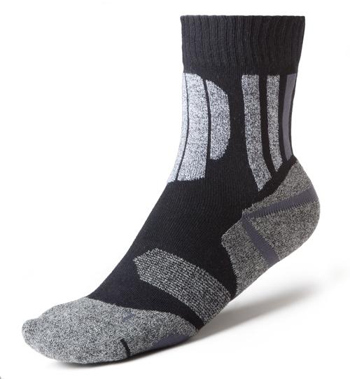 LÖWSOCKS Trekking Socken Doppelpack Dachstein II COOLMAX 0140 schwarz-grau