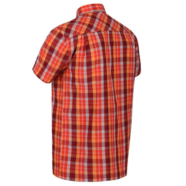 Regatta Herren Kalambo V Outdoor Kurzarmhemd RMS142 delhi red