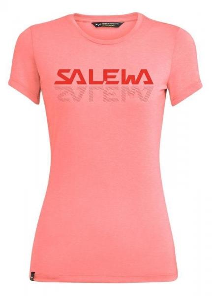Salewa Damen Graphic Dry'Ton T-Shirt 27751 pink melange