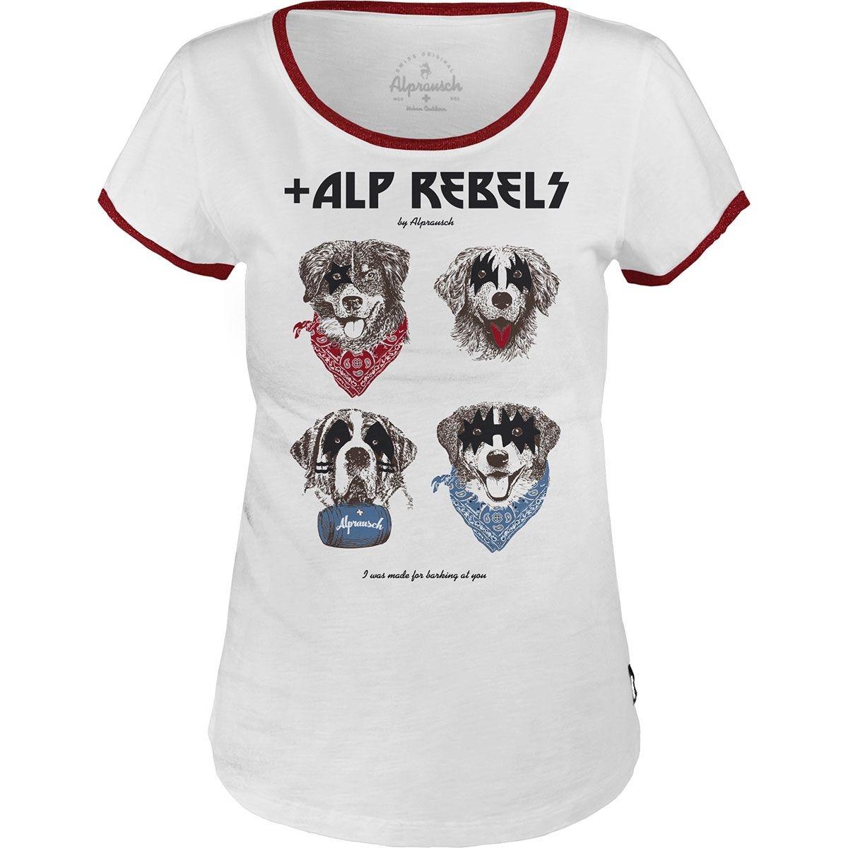+ALPRAUSCH Damen REBELLIN Basic T-Shirt 60315 weiß