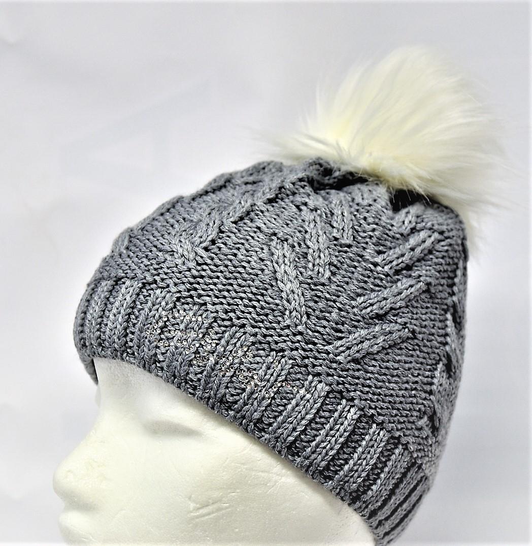 Eisbär Mütze Damen Lina Lux Crystal grau