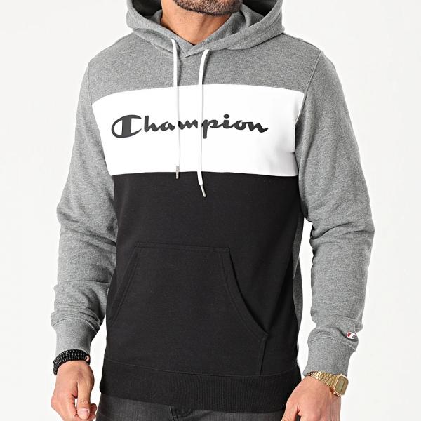 Champion Herren Hooded Sweatshirt 216196 S21 grau weiß