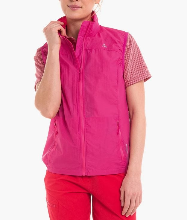Schöffel Damen Windbreaker Vest L1 12341 rosa