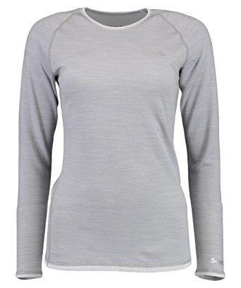 Schöffel Merino Sport Shirt Damen Langarm hellgrau