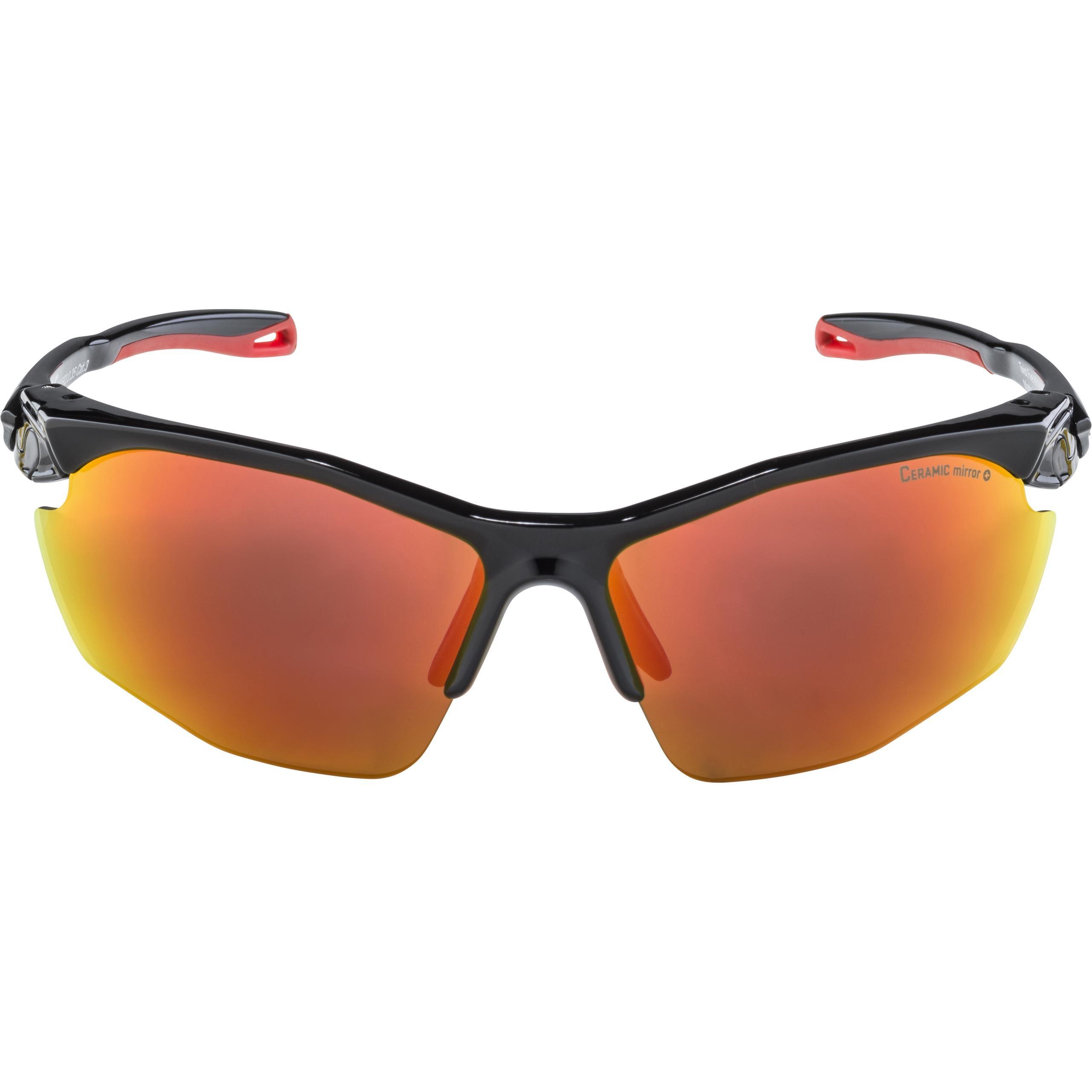 Alpina Sportbrille Twist Five HR CM+ black mattt red