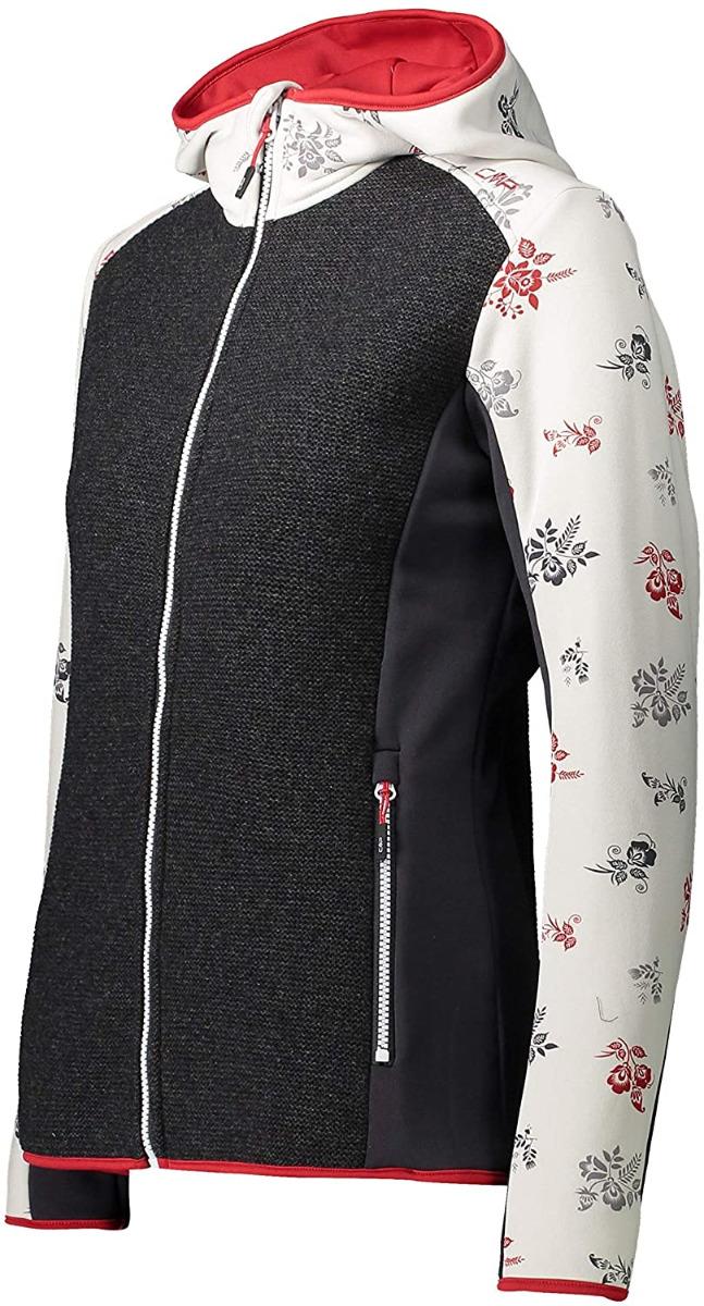 CMP Woman Jacket FIX Hood 30M2058 schwarz-weiß
