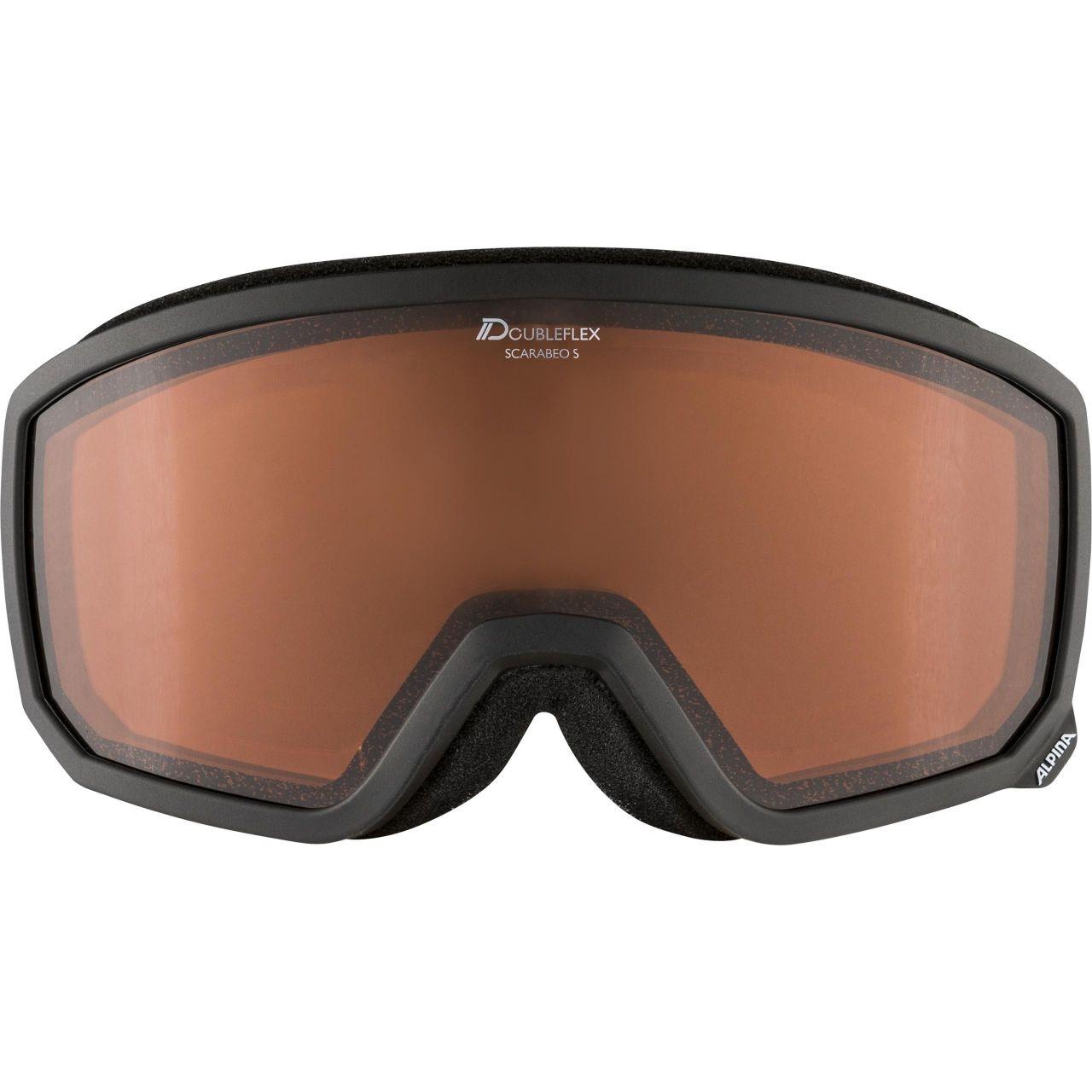 Alpina Erwachsenen SCARABEO S D Skibrille A7262 black
