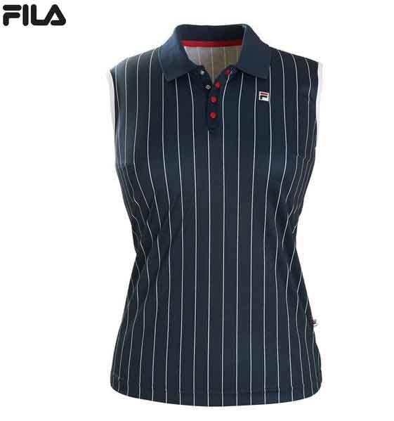 FILA Damen Poloshirt ohne Arm Pia Jersey FBL171013 dunkelblau