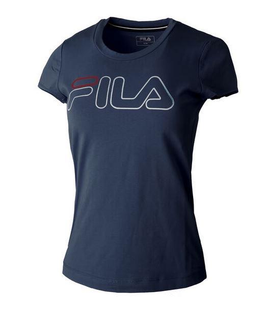 FILA Damen Reni T-Shirt FLL192013 dunkelblau
