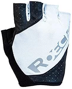 Roeckl Oxford Fahrrad Handschuhe kurz 3107 weiß schwarz Gr.7,5