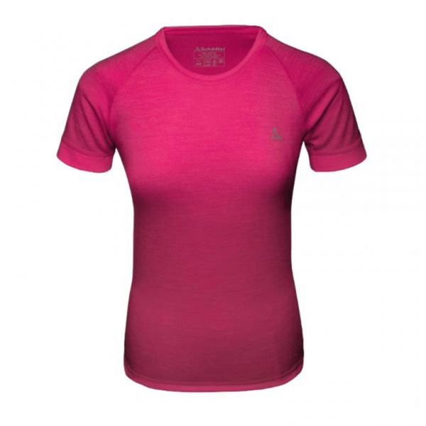 Schöffel Merino Sport Shirt Damen 1/2 Arm pink