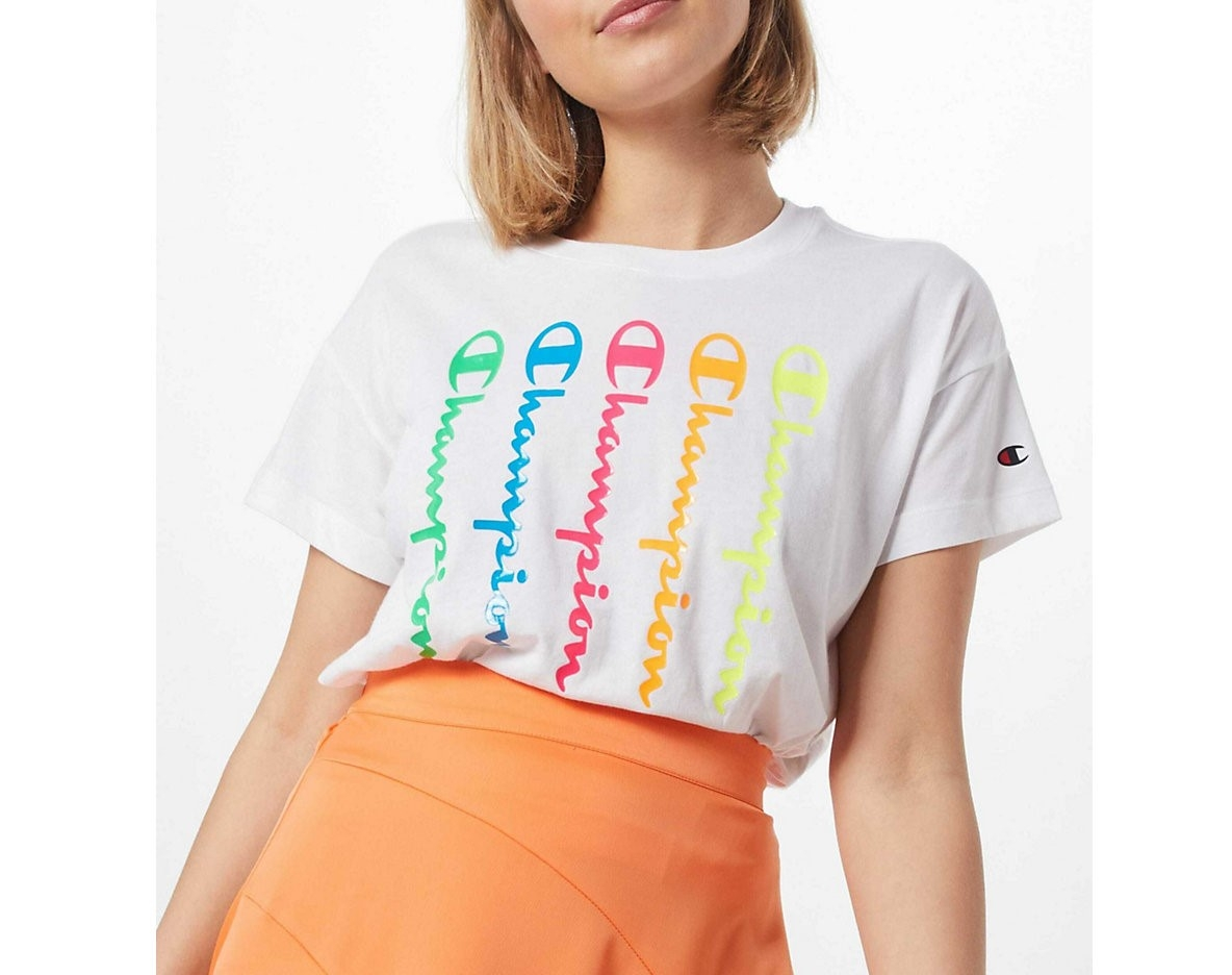 Champion Damen T-Shirt Apparel 112682 weiß