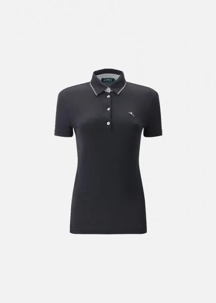 Chervo Damen Golf Poloshirt AROA 64889 schwarz