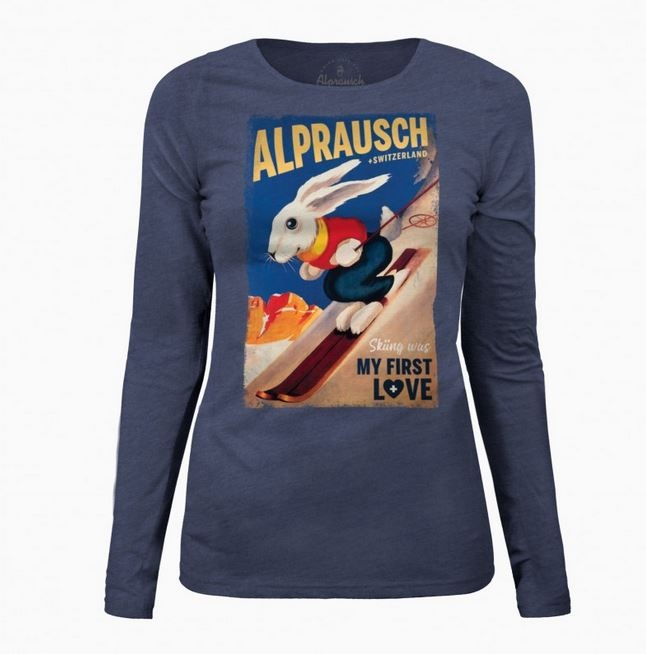 +ALPRAUSCH Da- Longsleeve Sweatwer Alp-Bunny 60153 blau