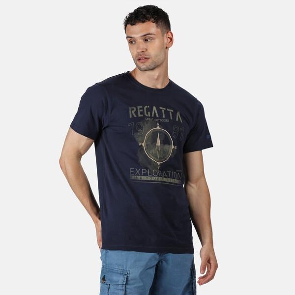 Regatta Herren Cline IV Graphic T-Shirt RMT206 Navy
