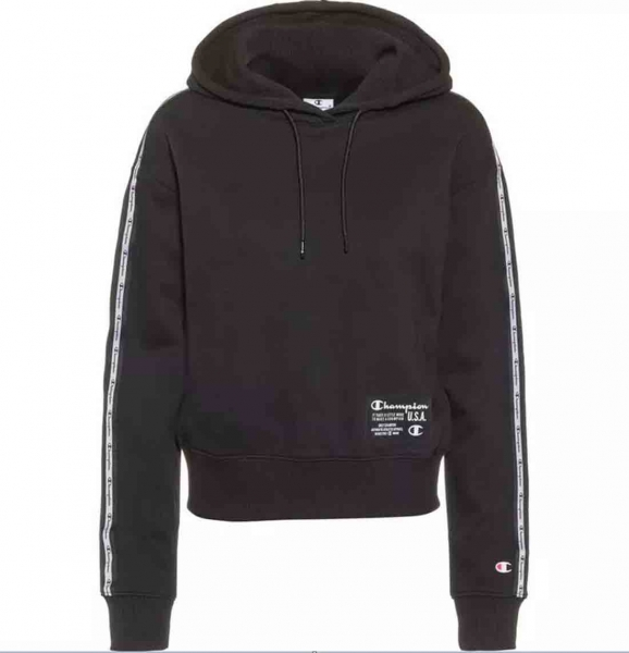 Champion Damen Hooded Sweatshirt S21 114066 schwarz