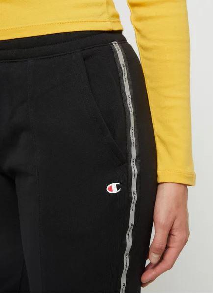 Champion Damen Rip Cuff Pants Logostreifen 113288 schwarz