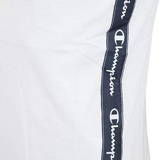 Champion Hr. Logo Tank Top Shirt 213018 weiß