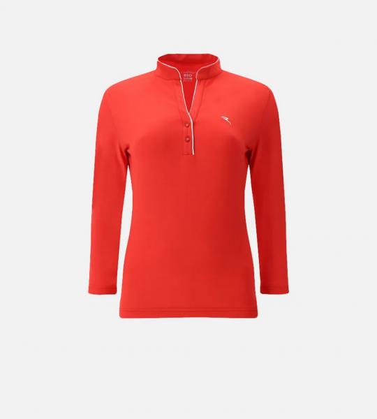Chervo Damen Golf 3/4 Poloshirt ALSAIA 64878 rot