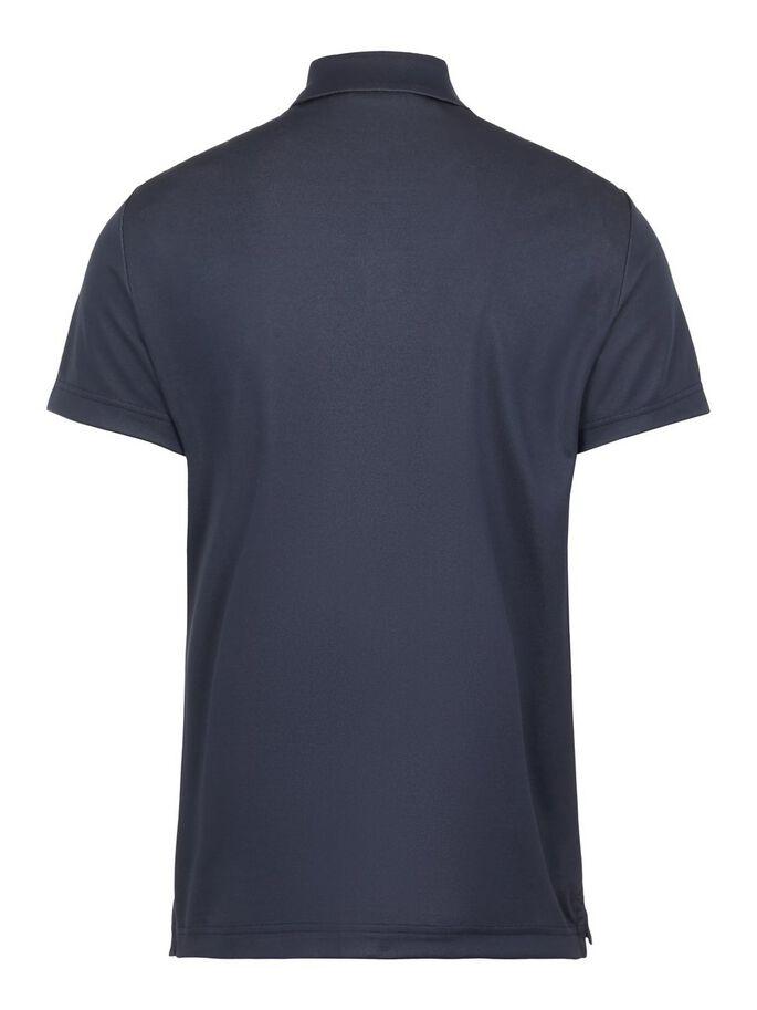 J.Lindeberg Herren THEO Reg Fit-TX Jaquard Poloshirt dunkelblau