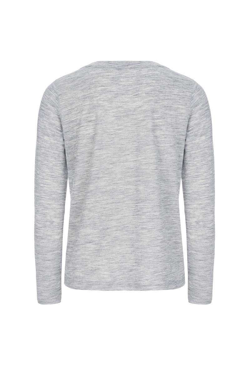 super.natuarl Da. Essential Scoop Langarm Shirt SNW011280 grau