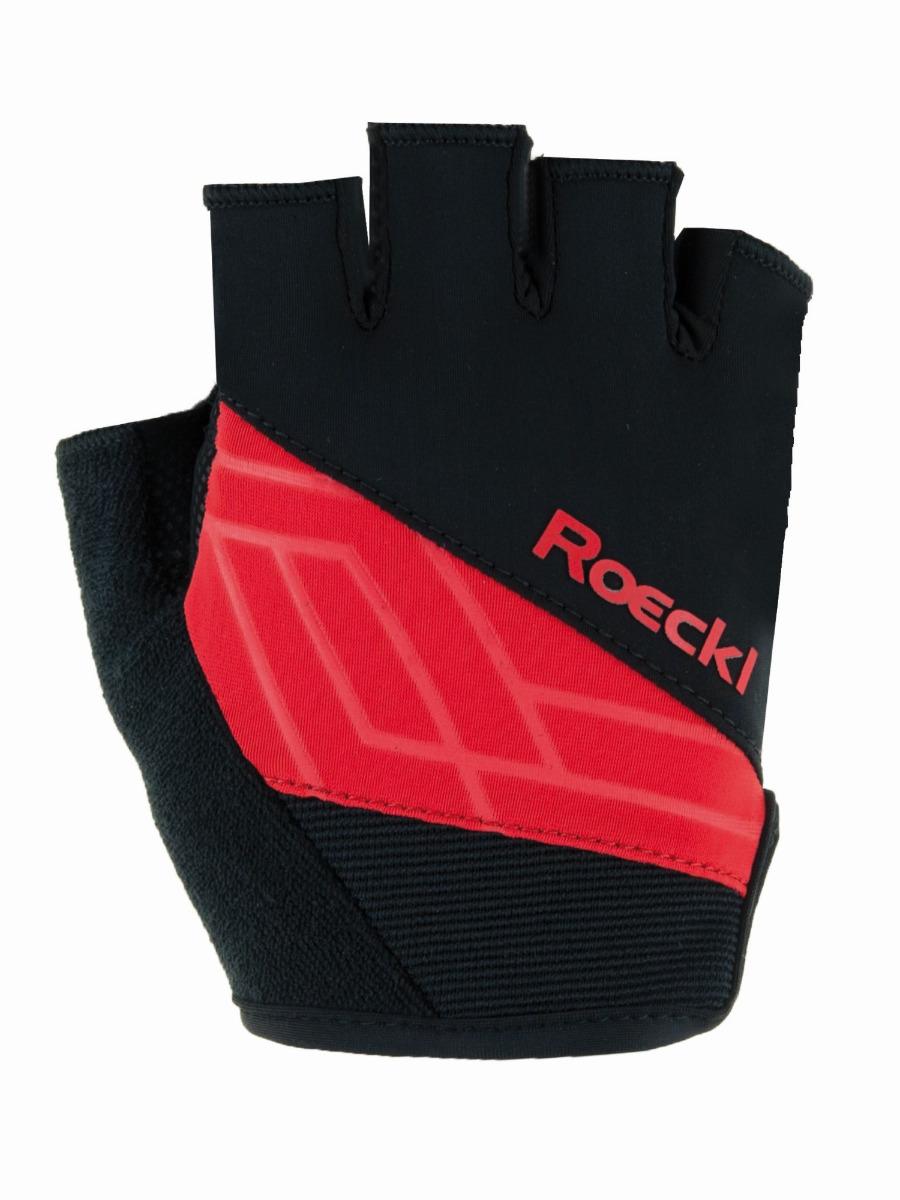 Roeckl Handschuhe Budapest 3101 schwarz-rot Gr.7,5