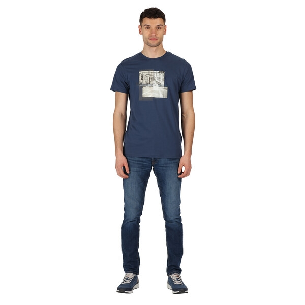 Regatta Herren Cline IV Graphic T-Shirt RMT206 Dark Denim