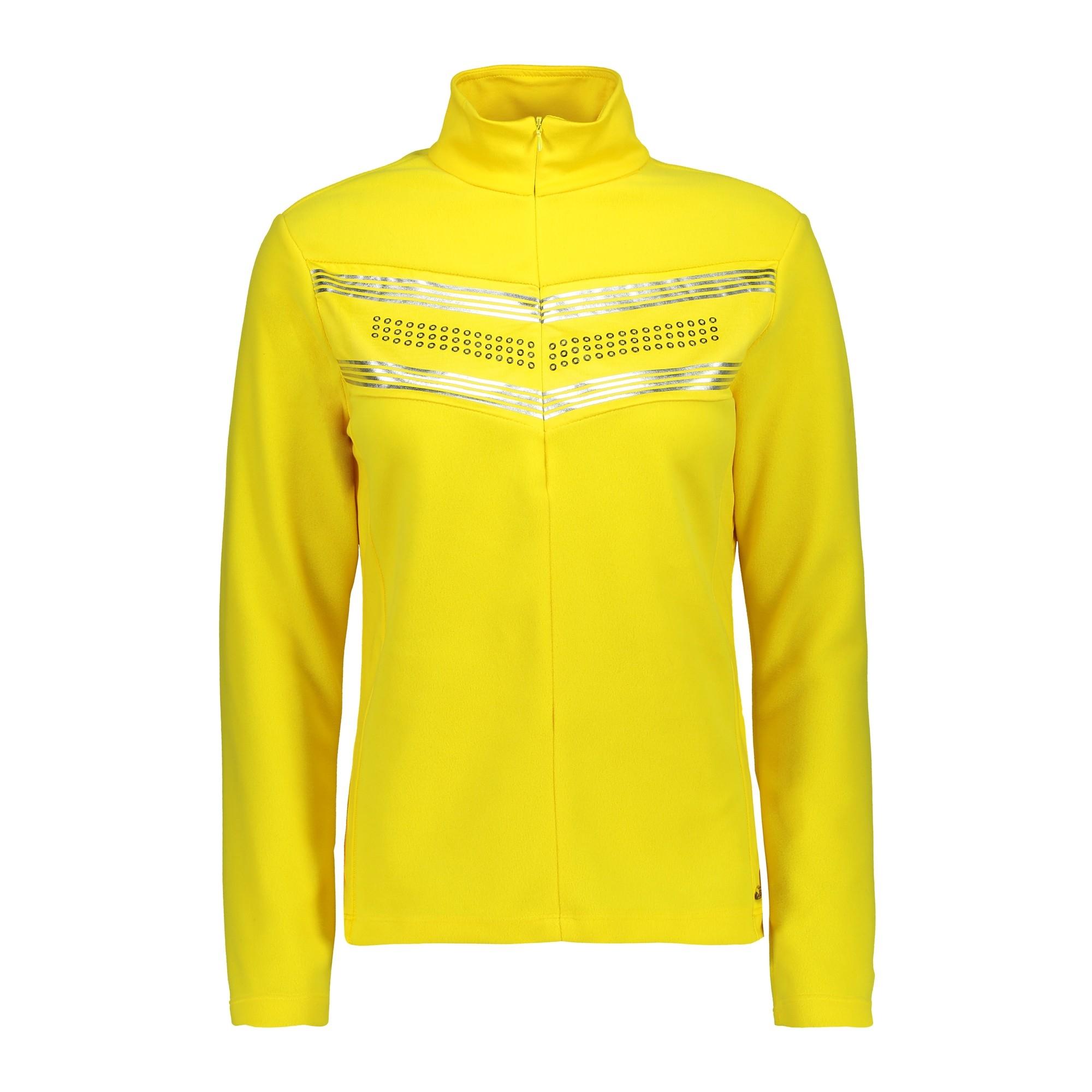 CMP Damen Fleecerolli Sweat Half Zip 39G2656 gelb