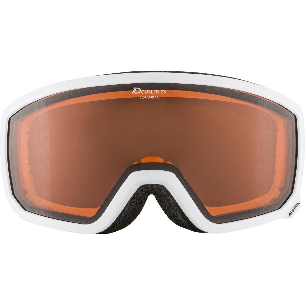 Alpina Erwachsenen SCARABEO S D Skibrille A7262 weiß