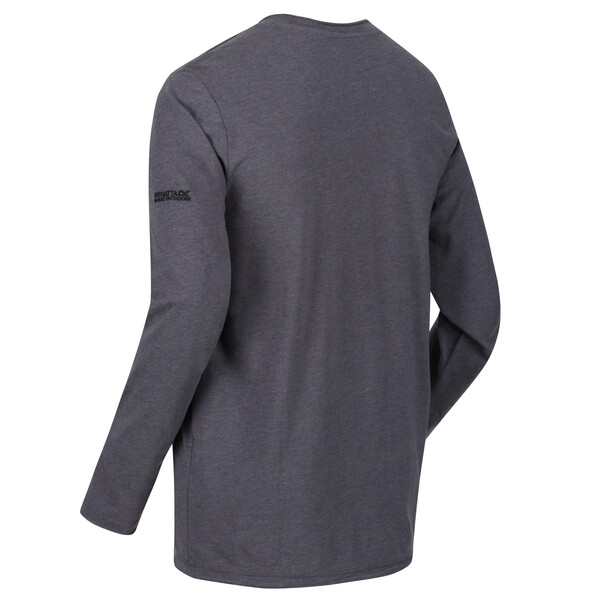 Regatta Herren KARTER II Langarm Shirt RMT219 seal grey
