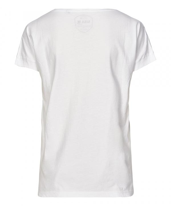 G.I.G.A. DX Da. Zikora Casual T-Shirt Vogelprint 33426 weiß