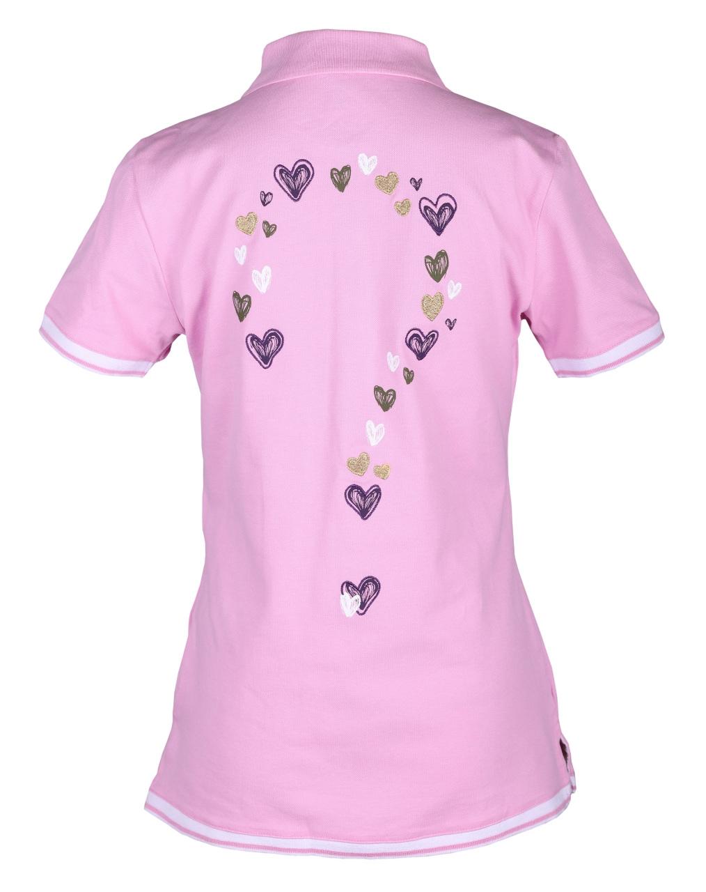 girls golf Damen Polo 1/2 sleeveless hearty questionmark 14101 rose