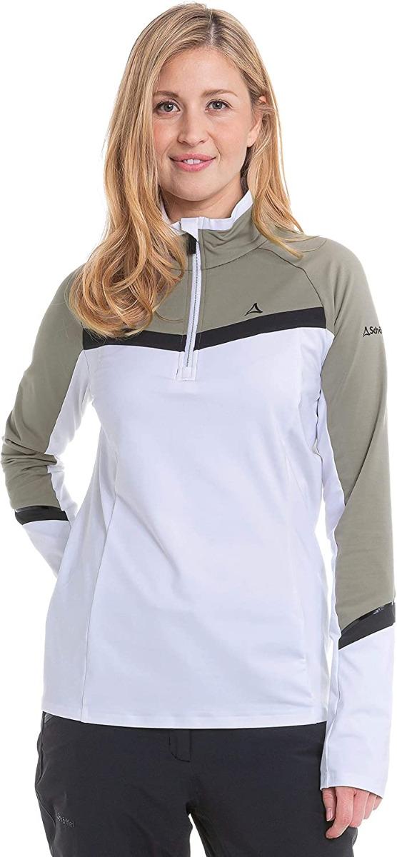 Schöffel Damen Longsleeve Stuben L Shirt 12751 weiß