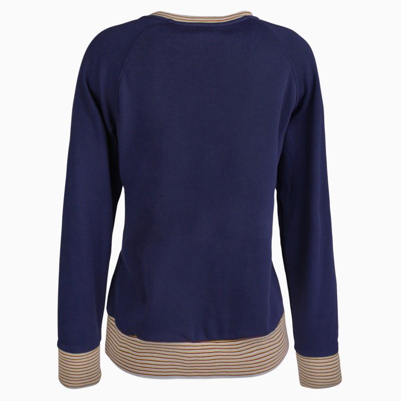 +ALPRAUSCH Da. Pullover Schneestärnli 60141 blau