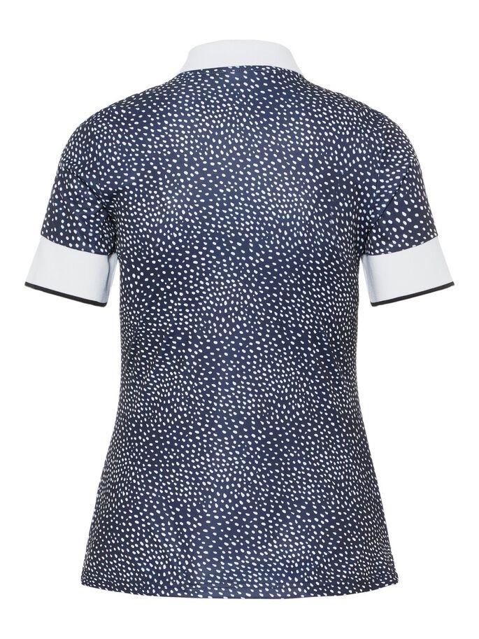 J.Lindeberg Damen Lexie-TX Coolmax Poloshirt weiß-blau
