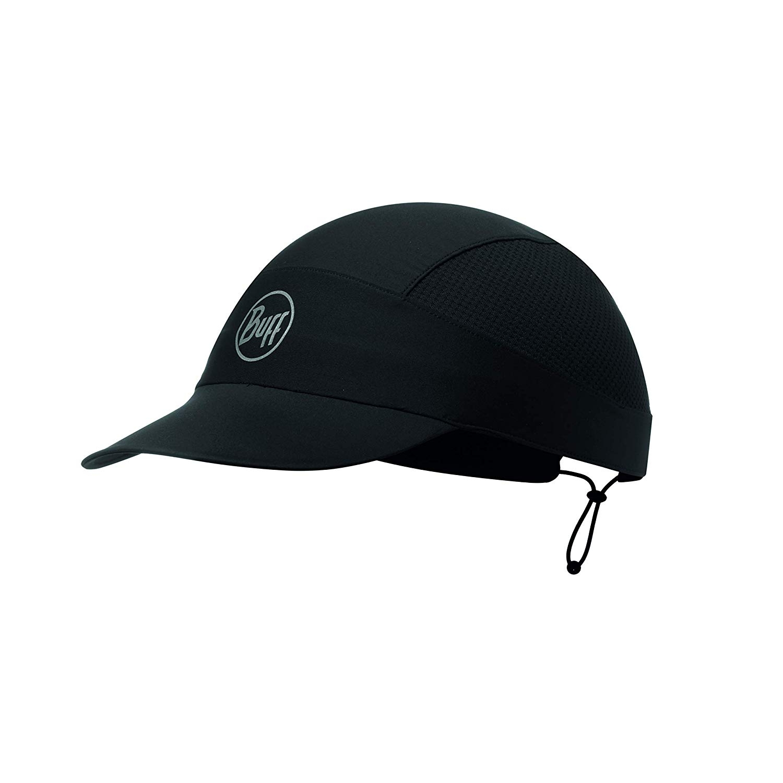 Buff Patterned XL Run Cap 119505 r-solid black